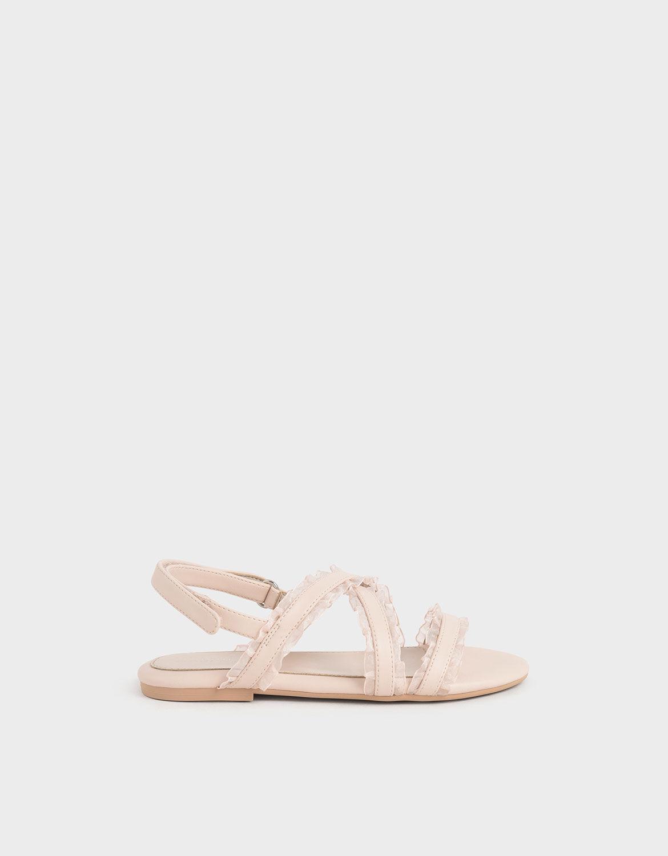 light pink flat sandals
