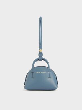 Mini Dome Pouch, Blue