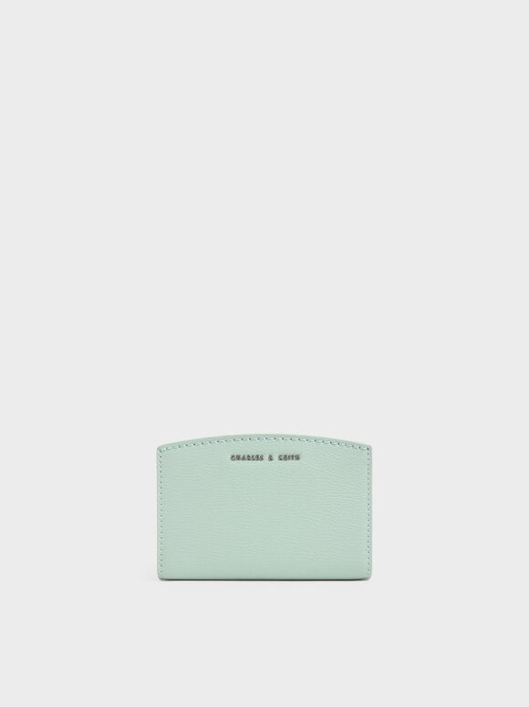 Snap Button Card Holder, Mint Green, hi-res