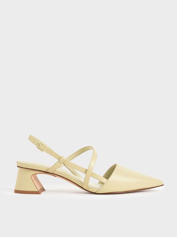 環繞細帶跟鞋, 黃色, hi-res