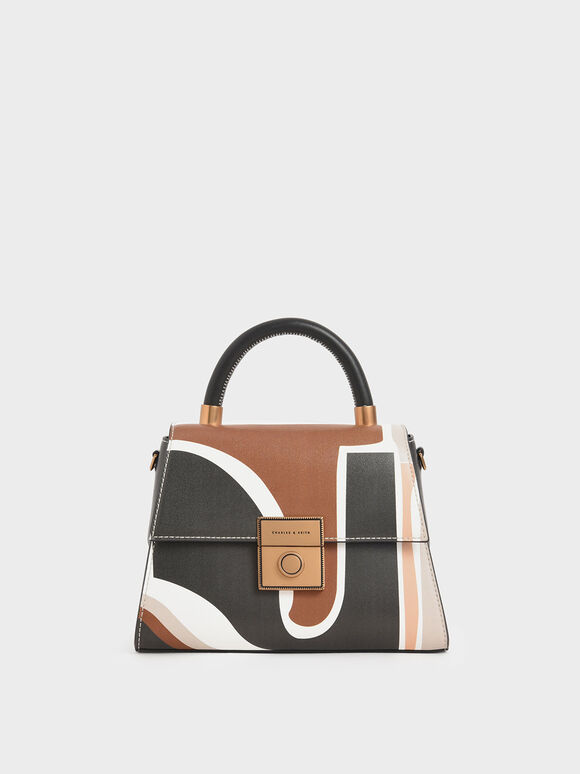 Printed Structured Bag, Multi, hi-res