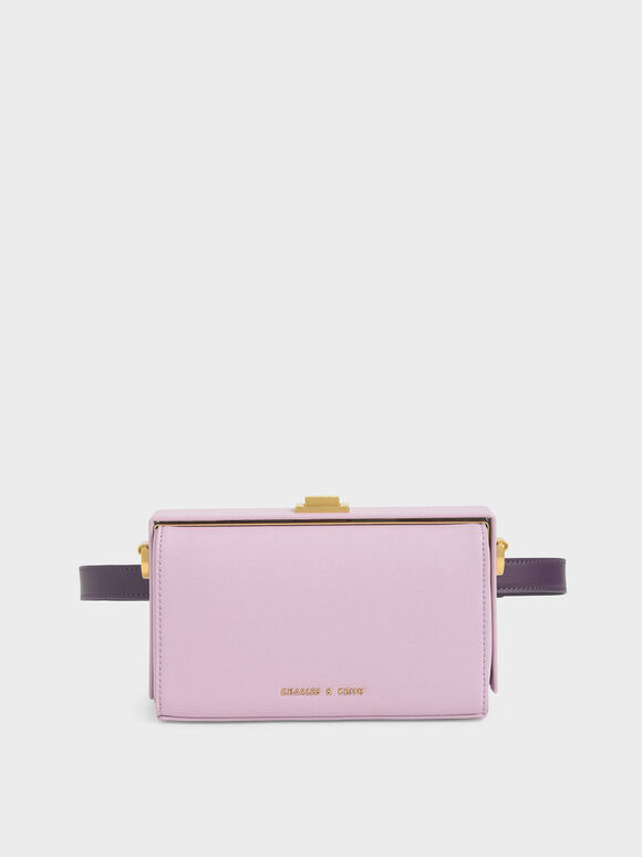 Rectangular Belt Bag, Lilac, hi-res