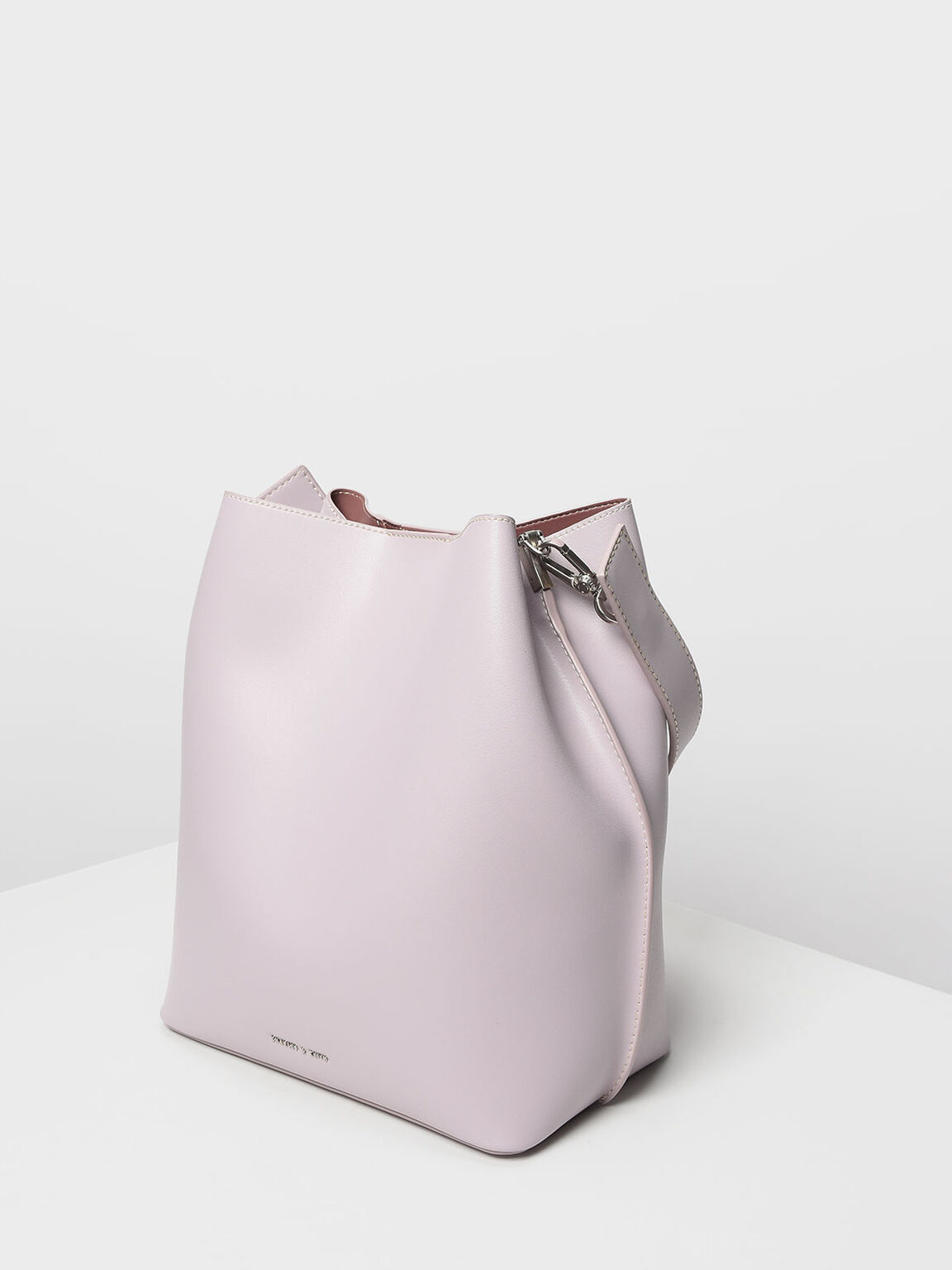 Stud Detail Hobo Bag, Lilac, hi-res
