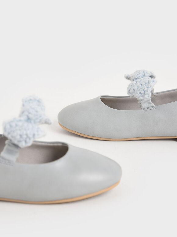 兒童蝴蝶結瑪莉珍鞋, 淺藍色, hi-res