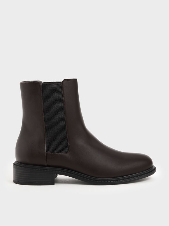 Classic Chelsea Boots, Dark Brown, hi-res
