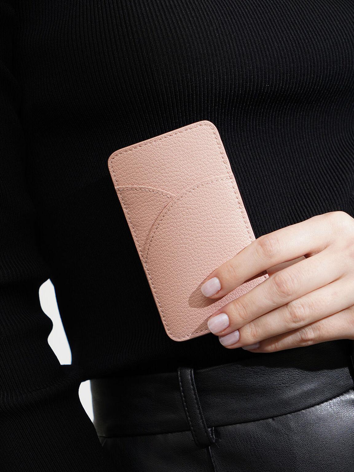 Elongated Card Holder, Pink, hi-res