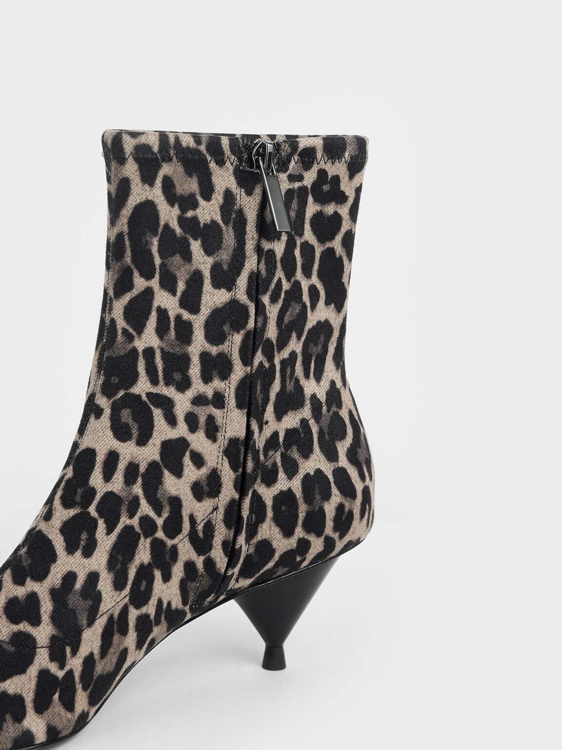 Leopard Print Ankle Boots, Multi, hi-res
