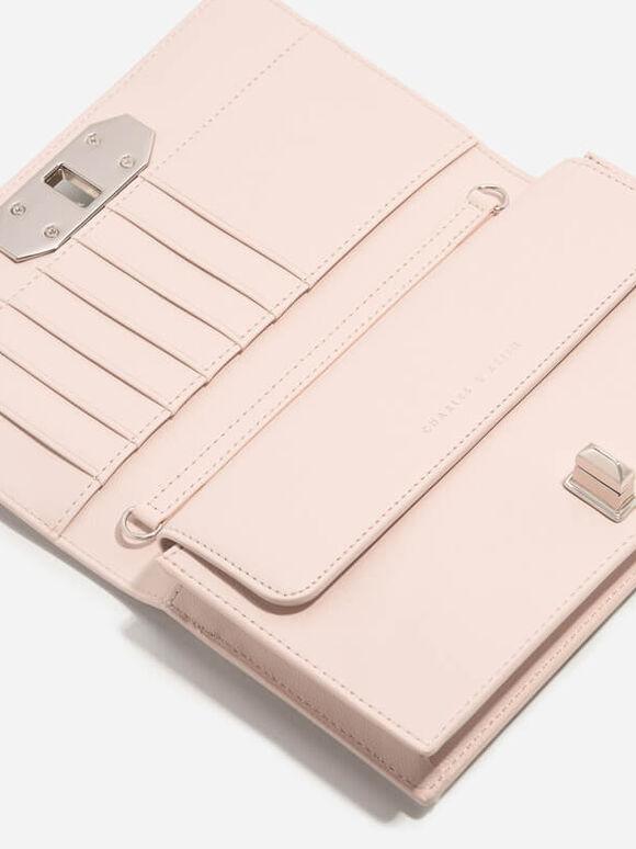Turn-Lock Wallet, Light Pink, hi-res