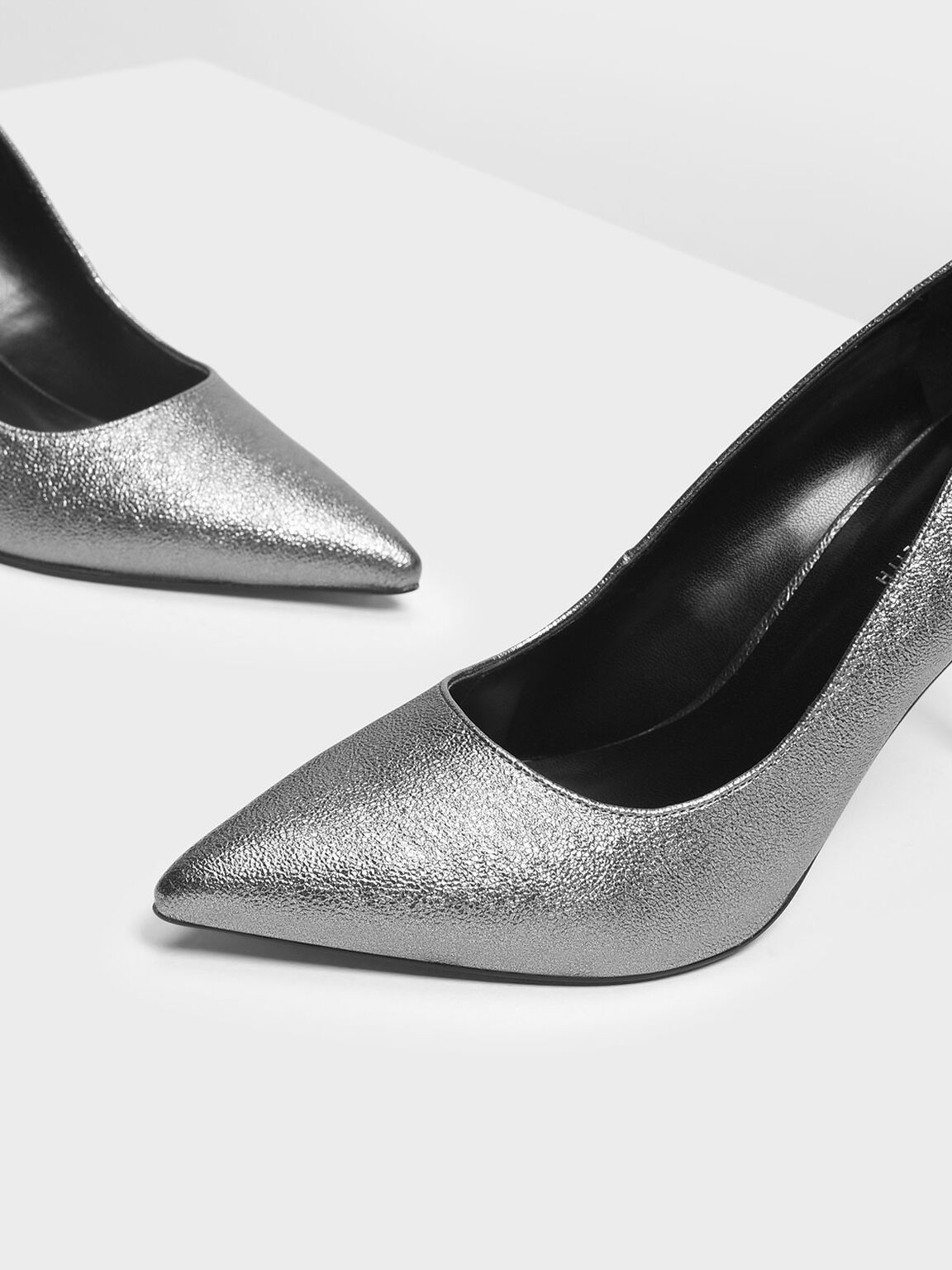 Classic Pointed Pumps, Pewter, hi-res