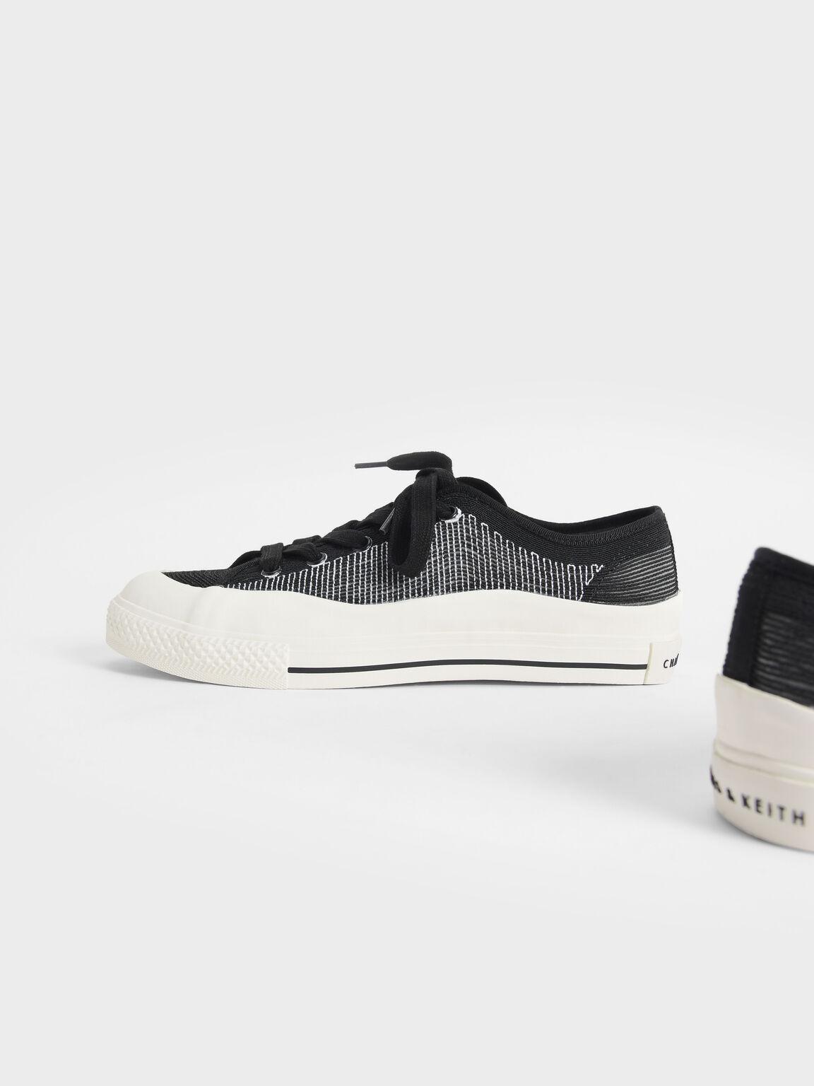 針織休閒鞋, 黑色, hi-res