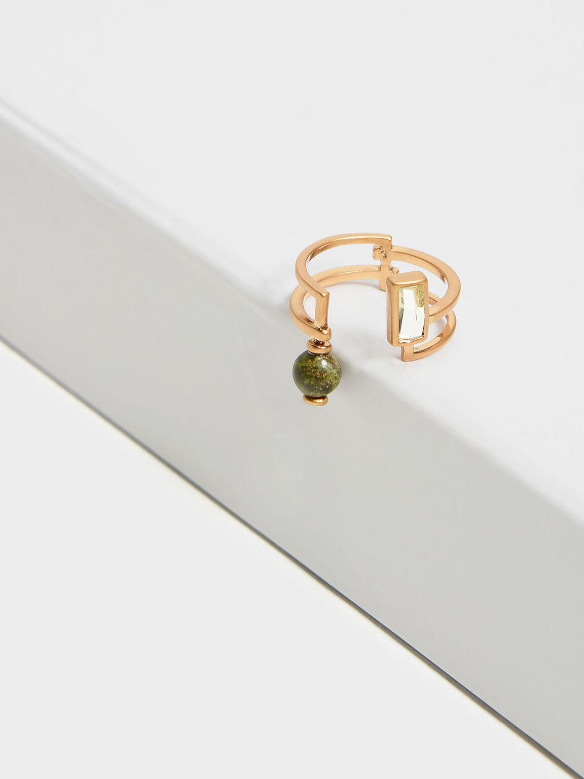Semi-Precious Stone Wrap Ring, Sand, hi-res