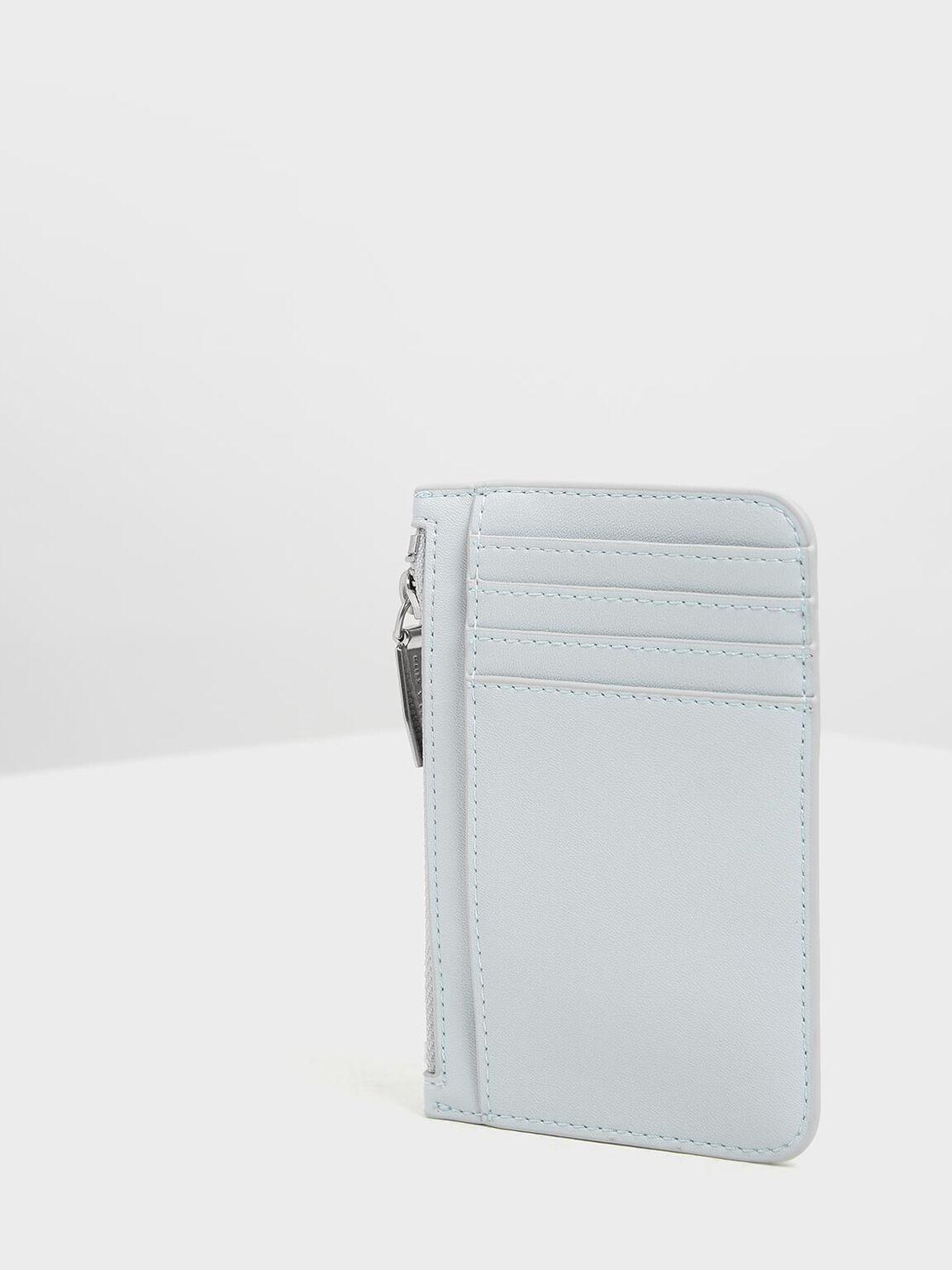 Embossed Rim Card Holder, Light Blue, hi-res