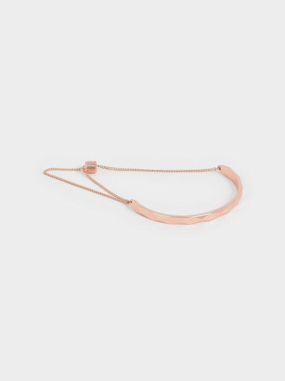 Geometric Cuff Bracelet, Rose Gold, hi-res