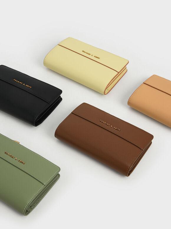 Snap Button Small Wallet, Sage Green, hi-res