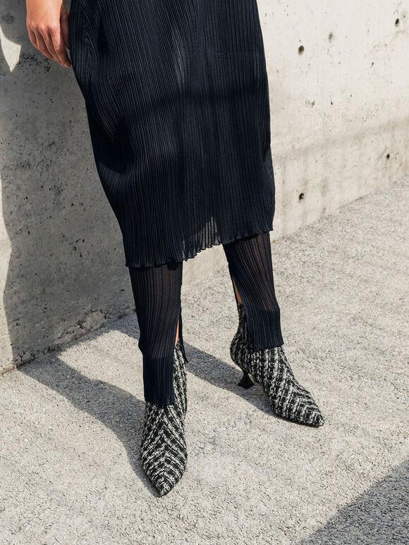 毛呢尖頭踝靴, 混色, hi-res