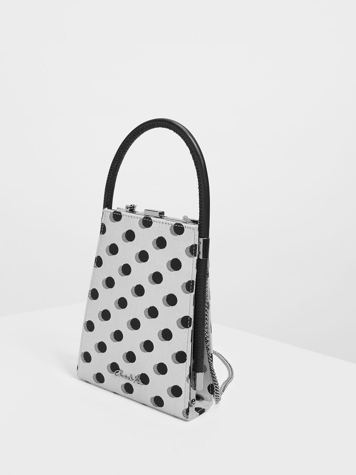 Jacquard Angular Bag, Multi, hi-res