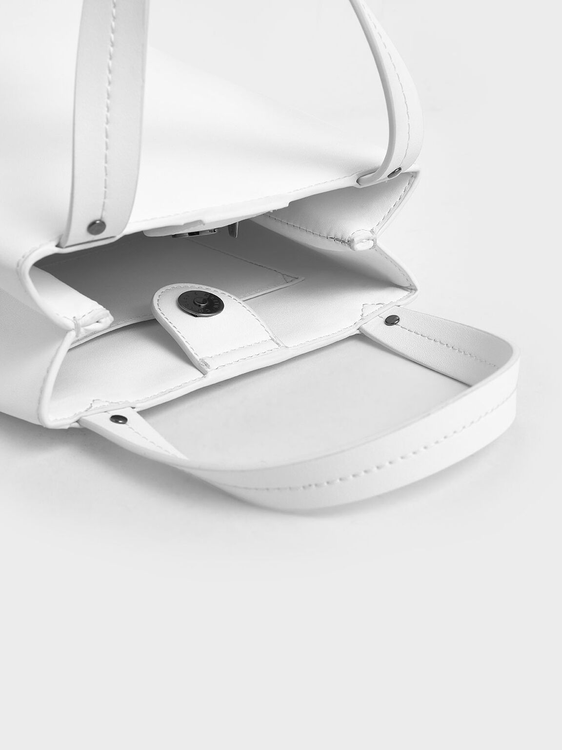 Elongated Top Handle Bag, White, hi-res