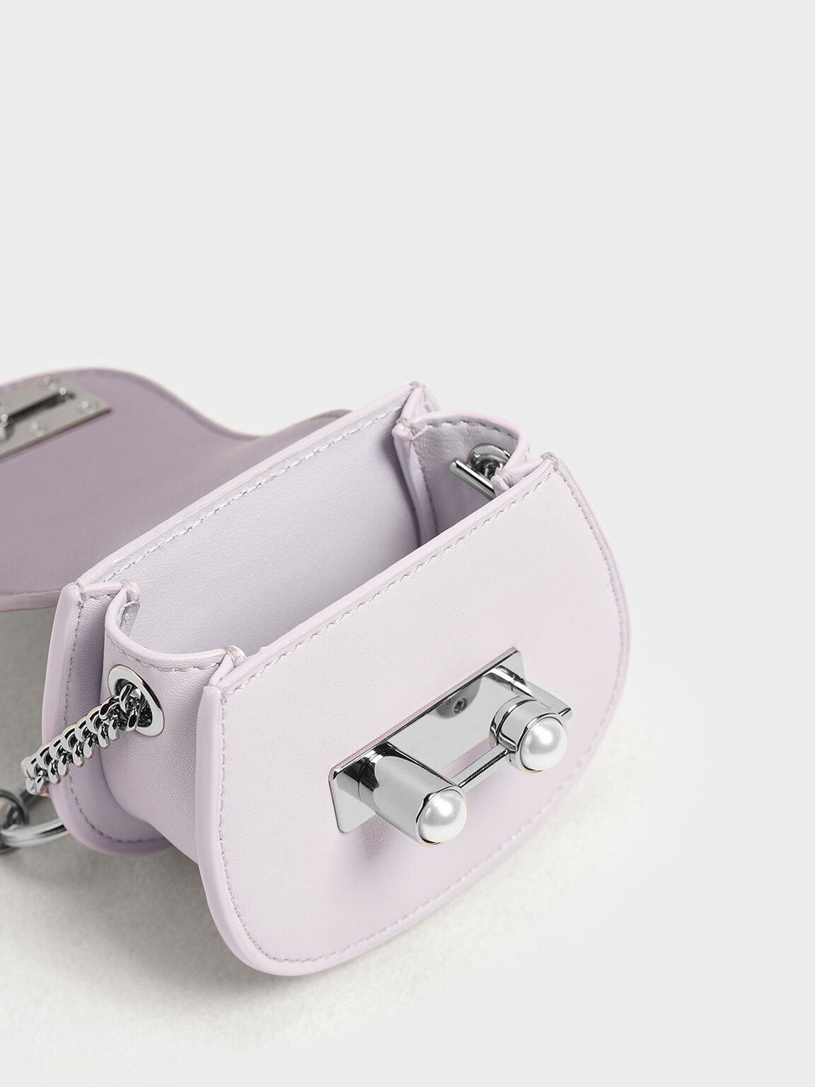 Mini Saddle Key Pouch, Lilac, hi-res