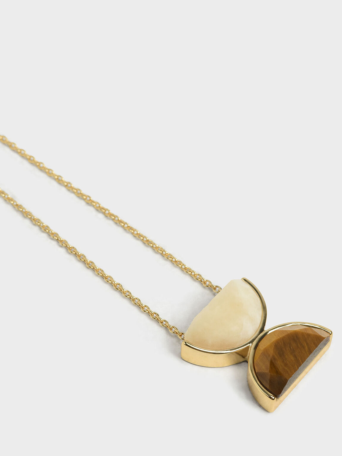 Tiger's Eye Necklace, Yellow, hi-res