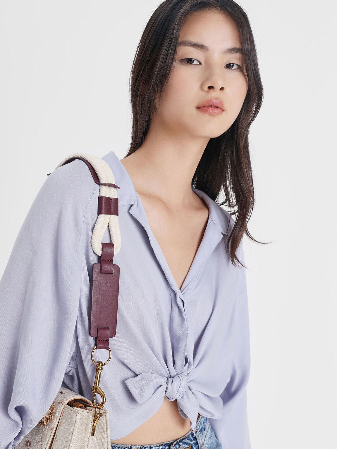Rope Detail Bag Strap, Prune, hi-res