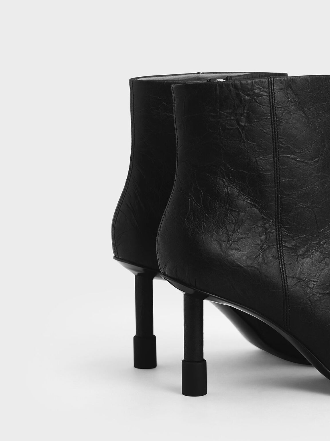 Stiletto Heel Ankle Boots, Black, hi-res