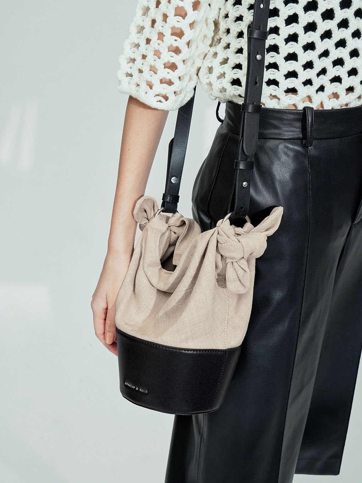 The Purpose Collection - Linen Bucket Bag, Taupe, hi-res