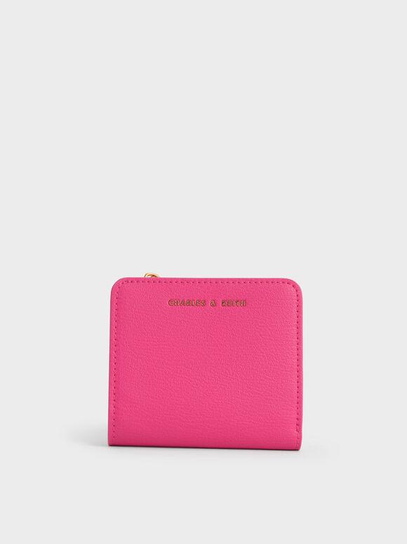Zip Around Card Holder, Fuchsia, hi-res