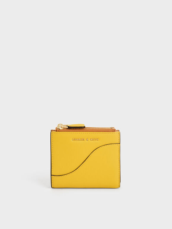 Top Zip Mini Wallet, Yellow, hi-res