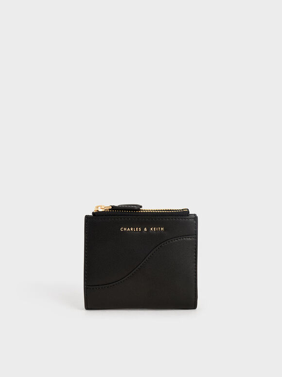 Top Zip Mini Wallet, Black, hi-res