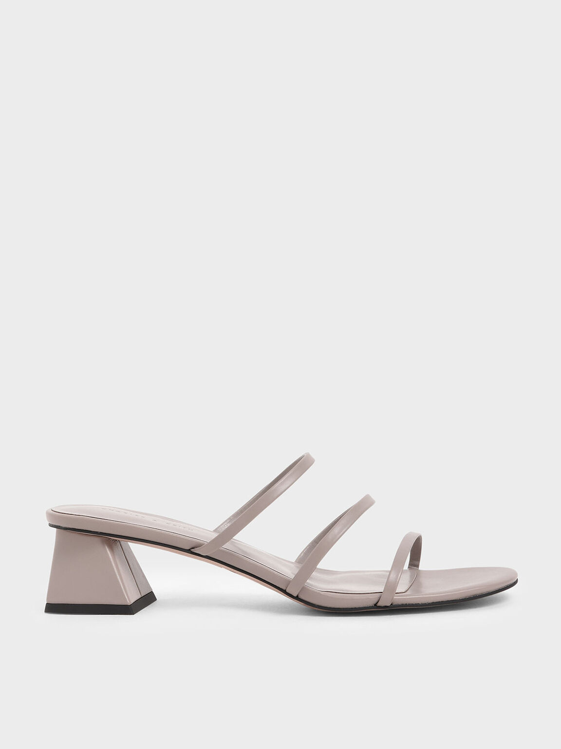 Triple Strap Slide Sandals, Nude, hi-res