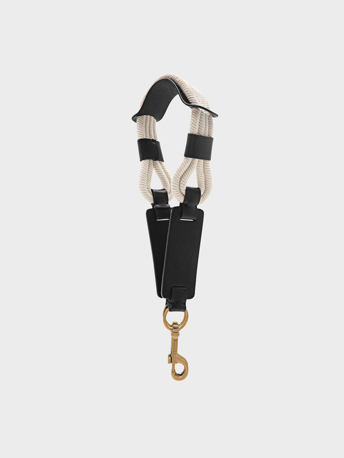 Rope Detail Bag Strap, Black, hi-res