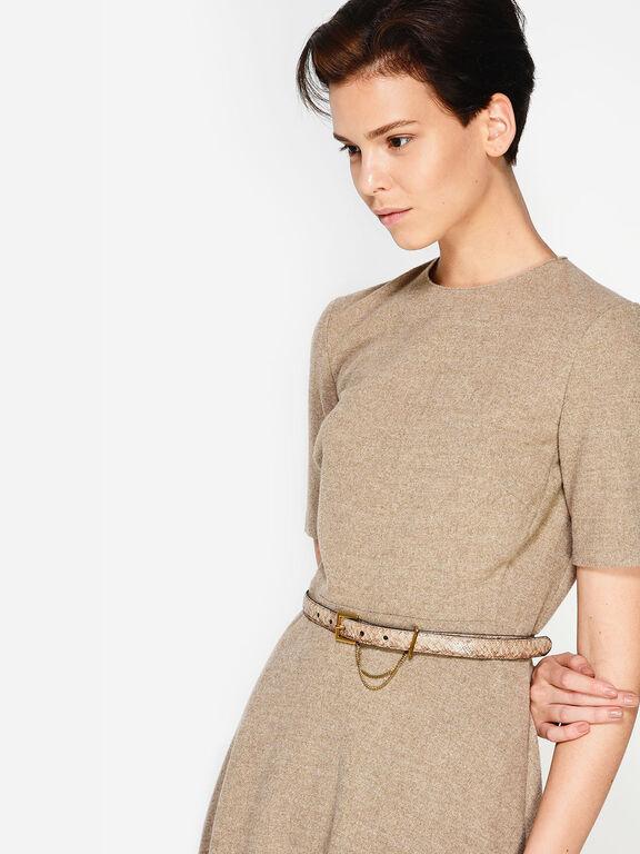 Chain Detail Mid-Waist Belt, Multi, hi-res