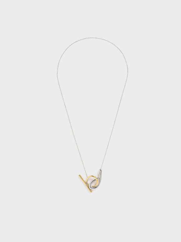 Sculptural Pendant Necklace, Multi, hi-res