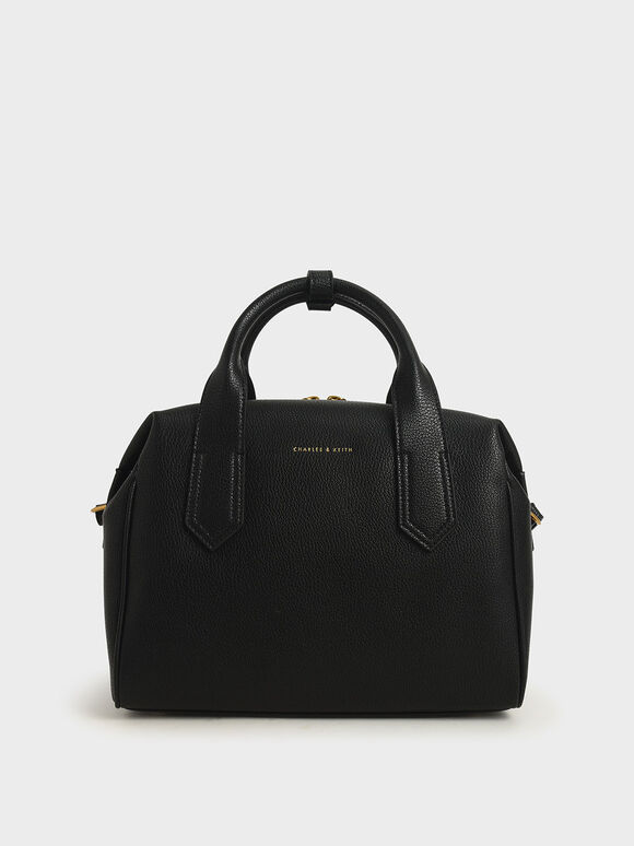 Double Handle Duffel Bag, Black, hi-res