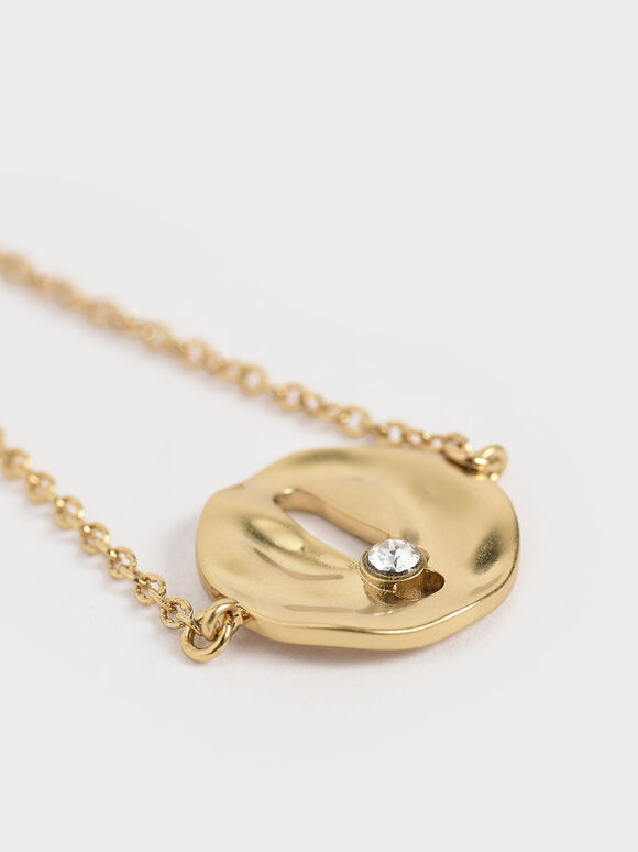 Medal Wrap Bracelet, Brush Gold, hi-res
