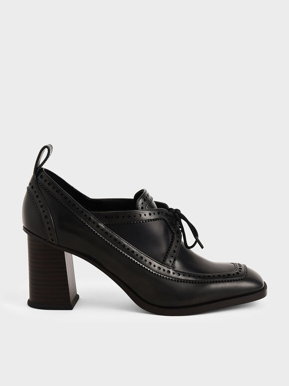 Brogue Pumps, Black, hi-res