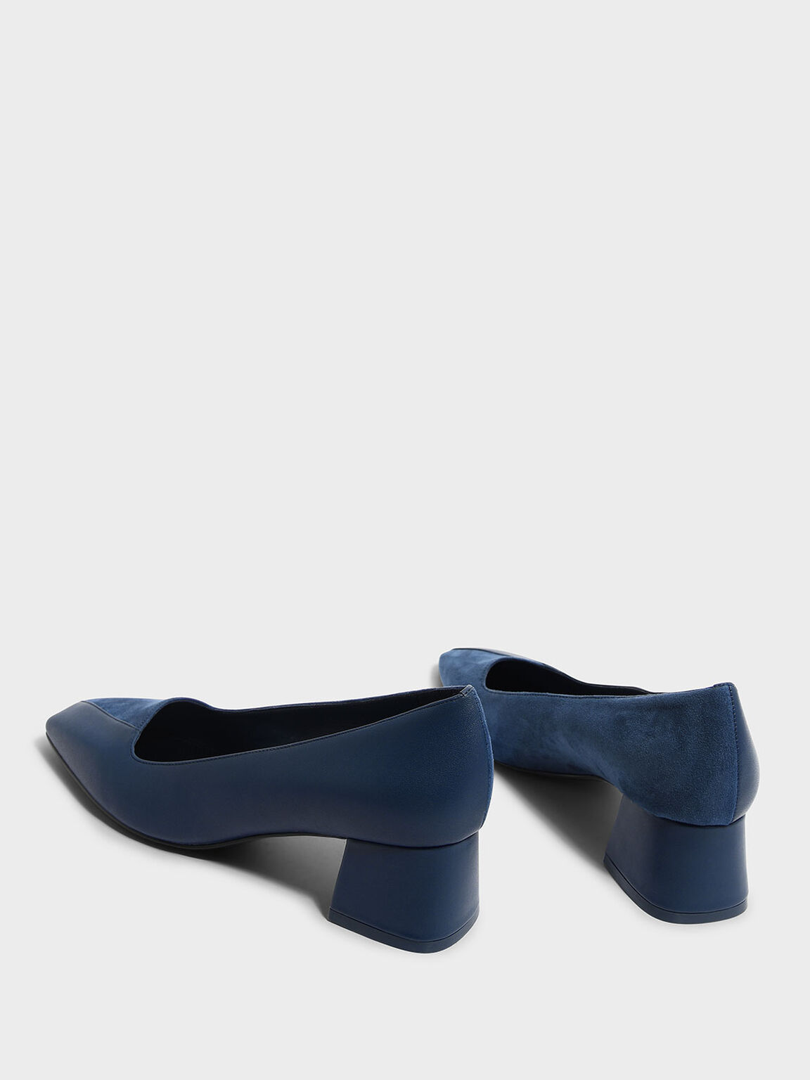 Trapeze Heel Pumps, Blue, hi-res