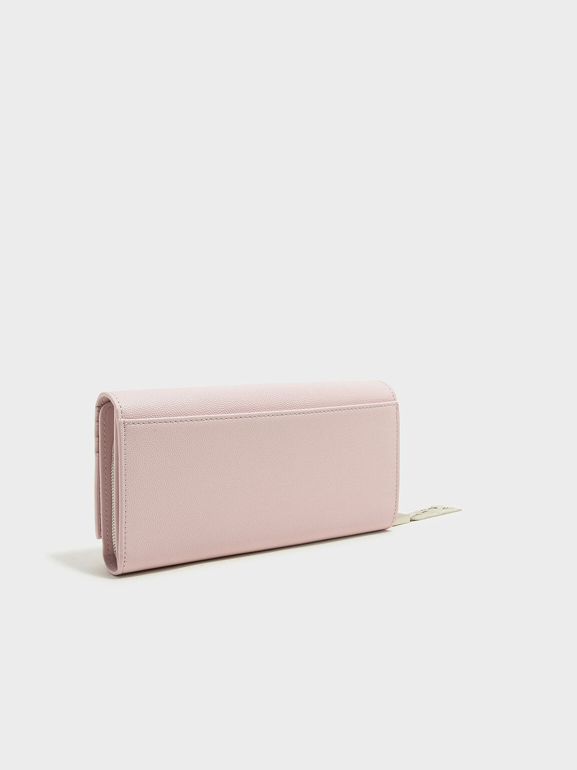 流蘇拉鍊長夾, 粉紅色, hi-res