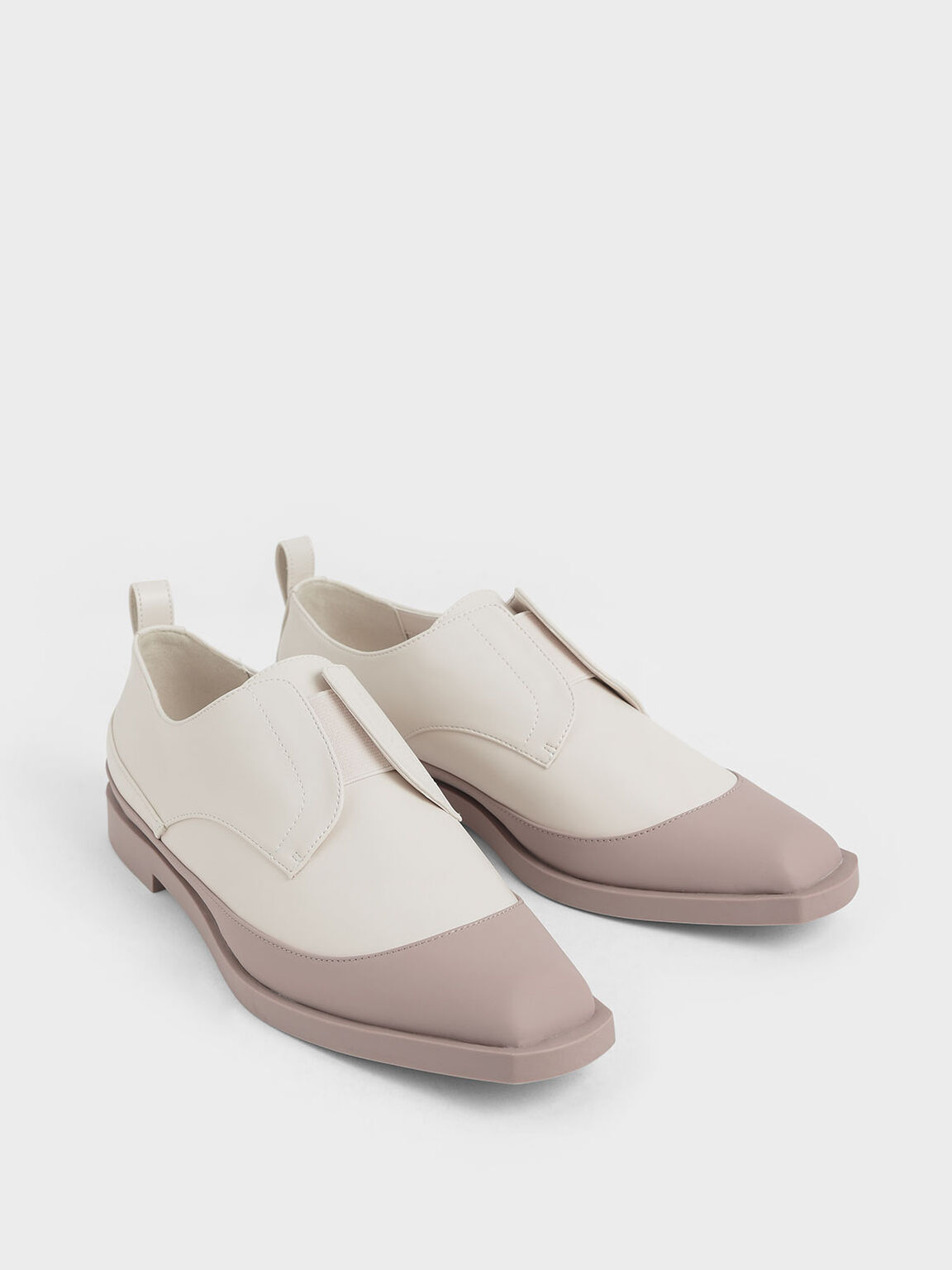 Two-Tone Loafers, Cream, hi-res