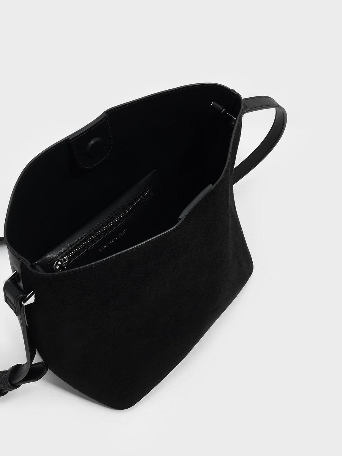 Slouchy Sling Bag, Black, hi-res