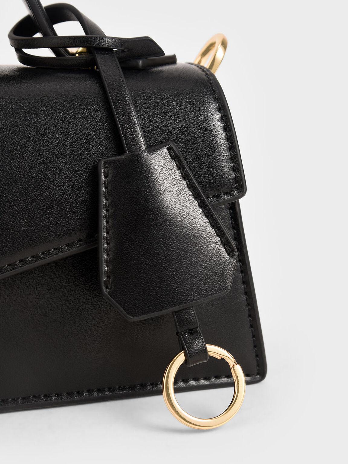 Trapeze Top Handle Bag, Black, hi-res