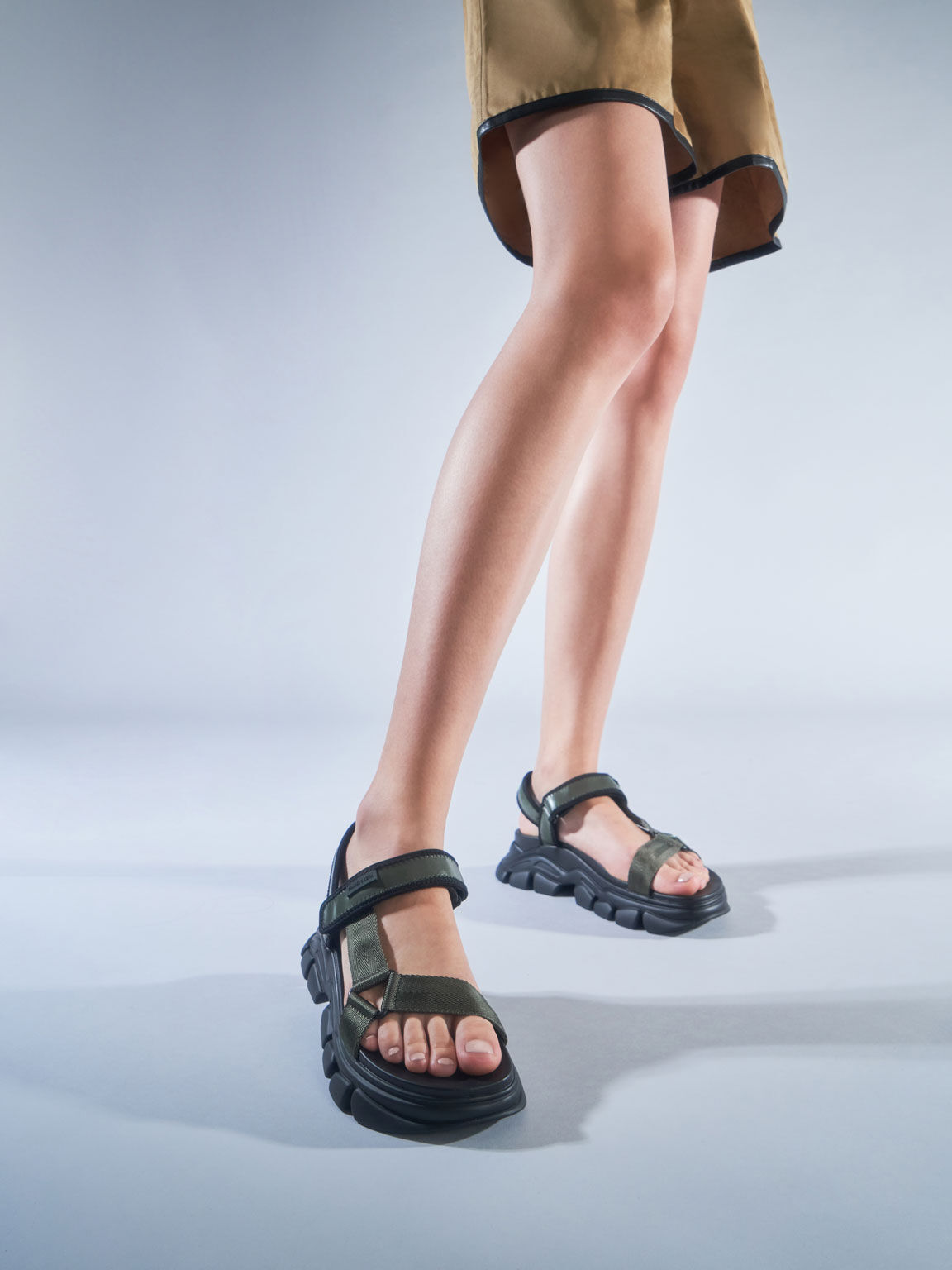 Dash Chunky Sandals, Military Green, hi-res