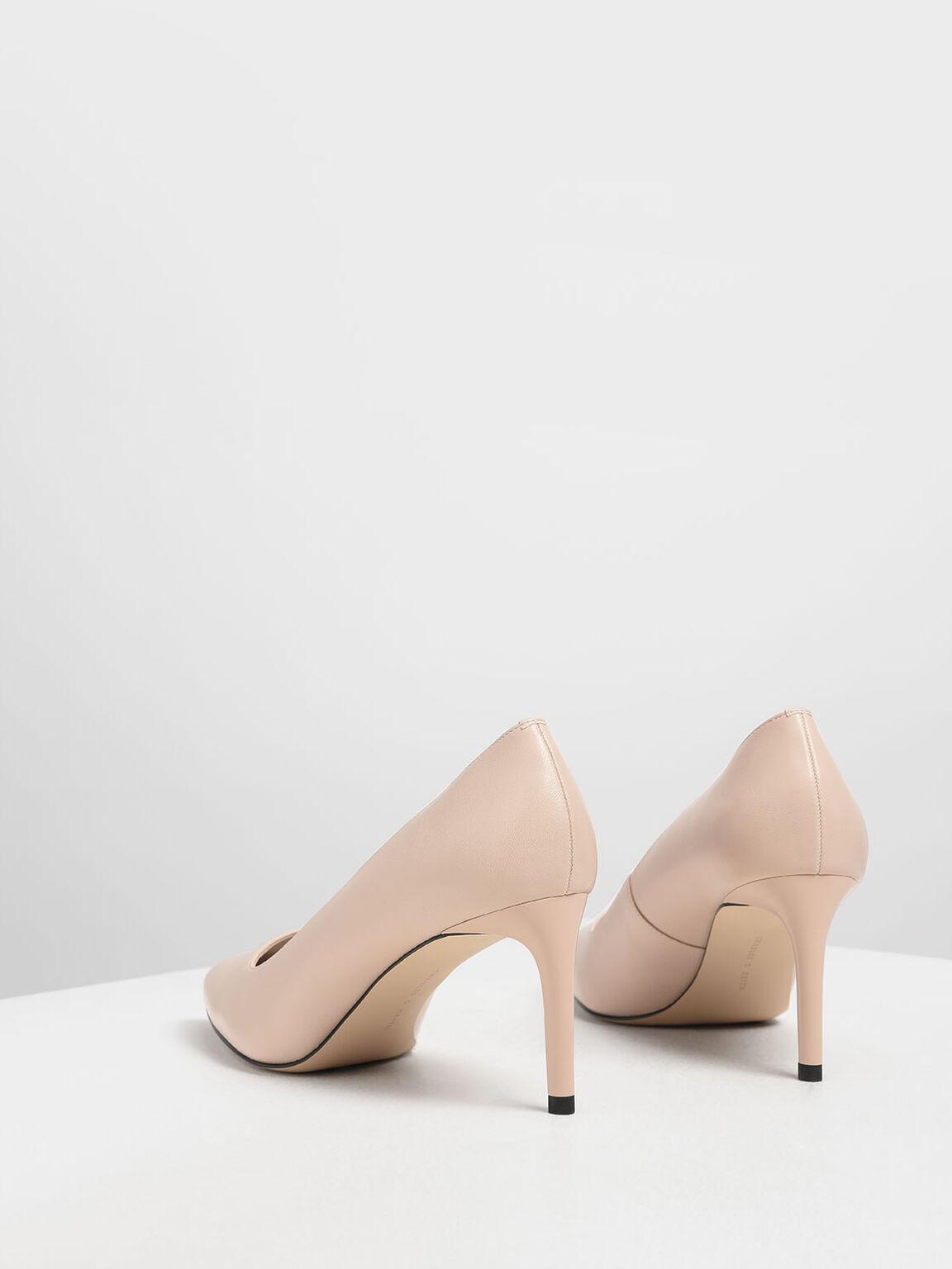 經典尖頭細跟鞋, 膚色, hi-res