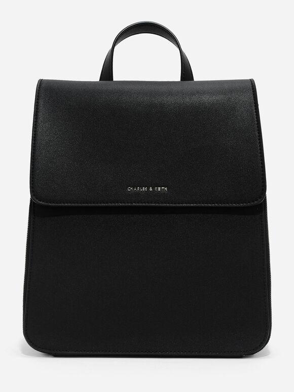 Top Handle Bag, Black, hi-res