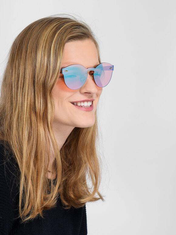 Oval Sunglasses, Pink, hi-res