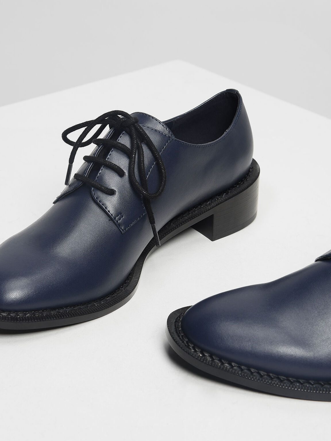 Classic Derby Shoes, Dark Blue, hi-res