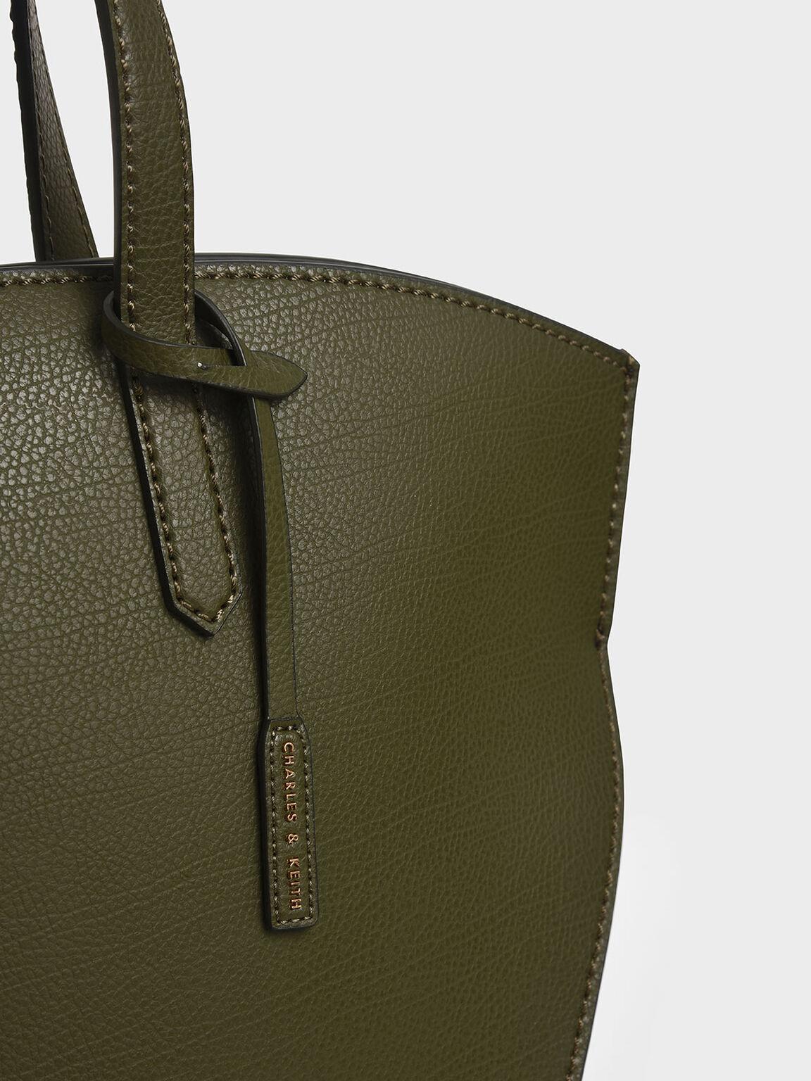 Large Geometric Tote Bag, Olive, hi-res