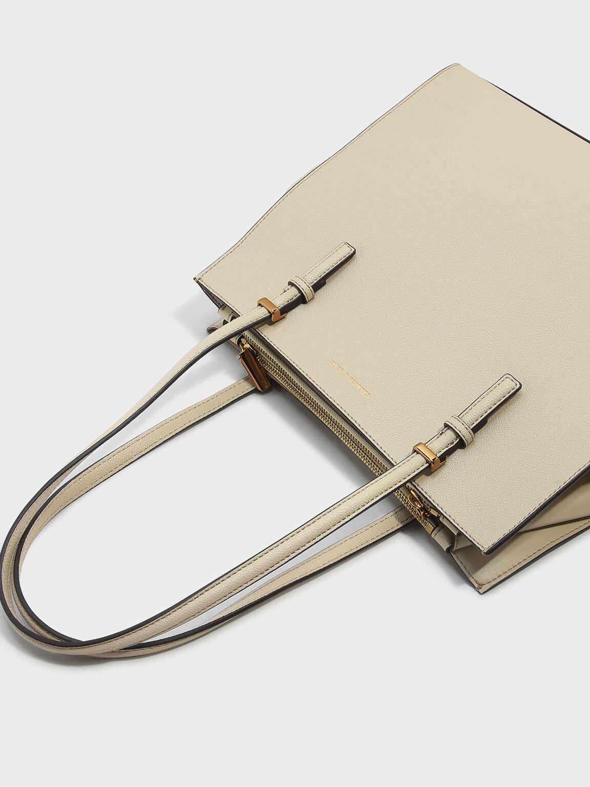 Chain Handle Bag, Ivory, hi-res