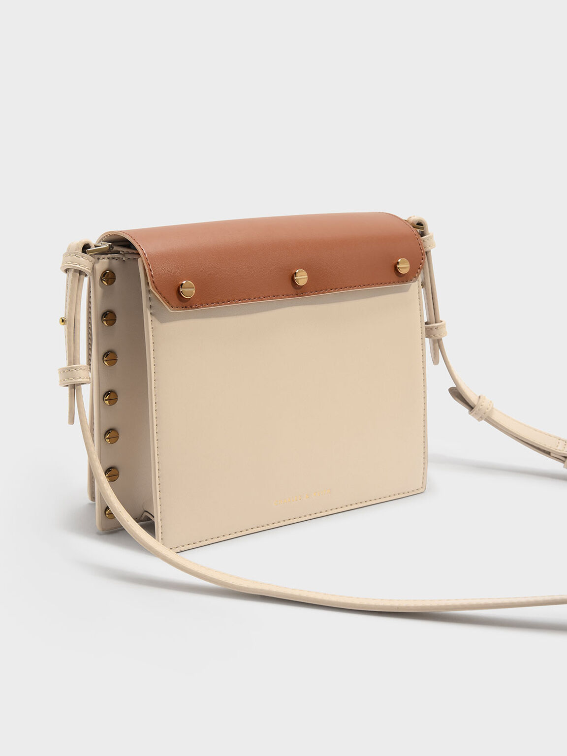 Reversible Flap Crossbody Bag, Beige, hi-res