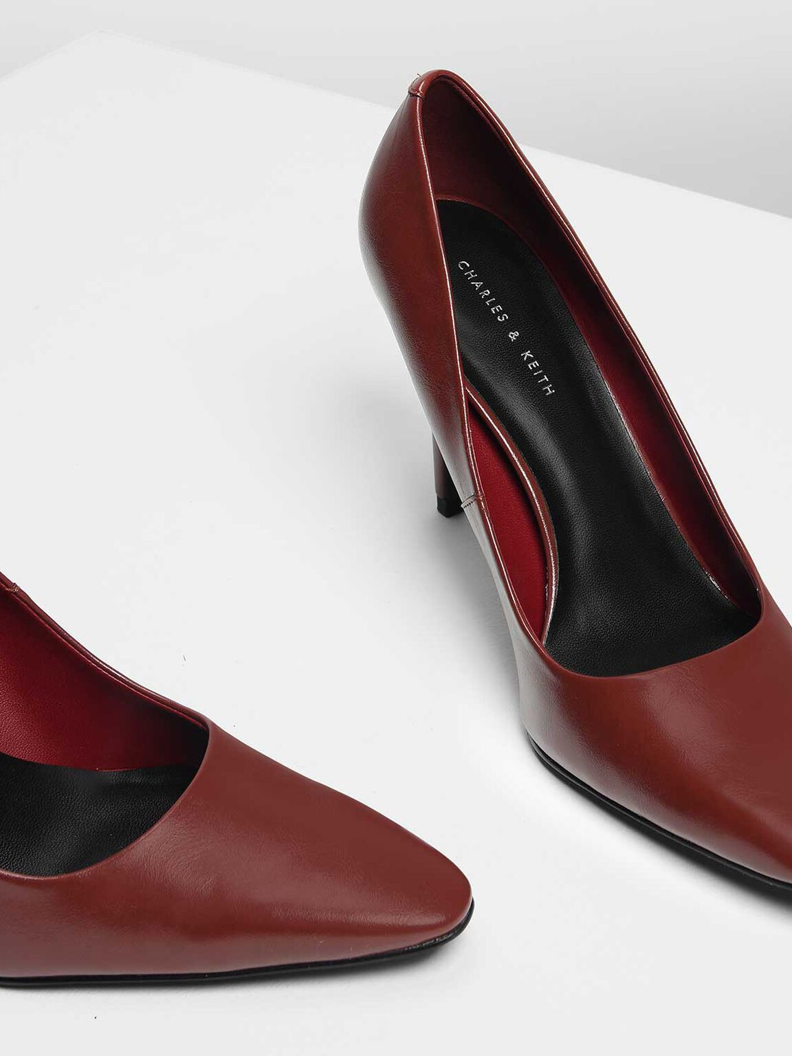 Classic Pointed Pumps, Red, hi-res
